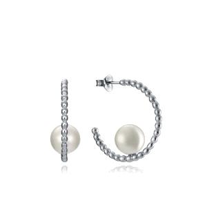 Pendientes plata de ley con perlas