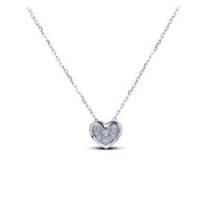 "Gargantilla ""Heart"" Oro Blanco 18kt con Diamantes"