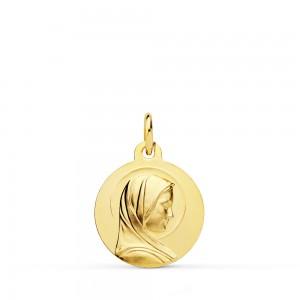 Medalla Virgen de Lourdes Oro 18kt 16 mm
