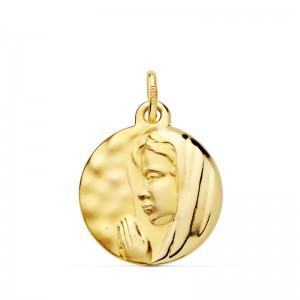 Medalla Virgen María Oro 18kt 16mm