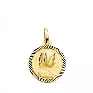 Medalla Virgen de Lourdes Oro 18kt 14mm