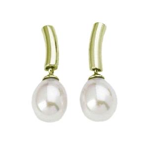 Pendientes de perlas de 8mm en forma pera