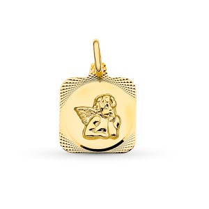 Medalla Ángel Burlón Oro 18kt 15 X 13mm