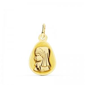 Medalla Virgen Niña lágrima 17 X 10 mm.