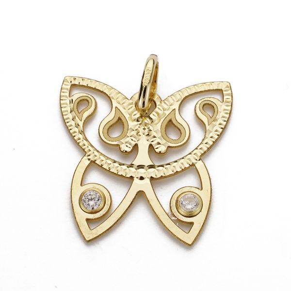 Colgante de Oro 18kt con forma de mariposa