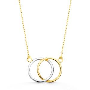 Gargantilla Oro Amarillo y Oro Blanco de 18Kt con cadena