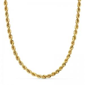 Cordón Oro 18kt salomónico 50cm x 4,5mm