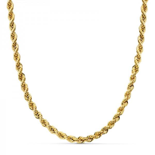Cordón Oro 18kt salomónico 60cm x 4,5mm