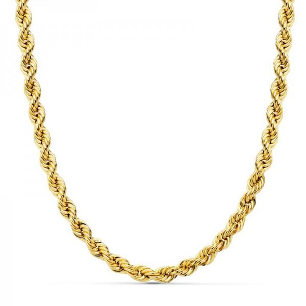 Cordón Oro 18kt salomónico 60cm x 5mm