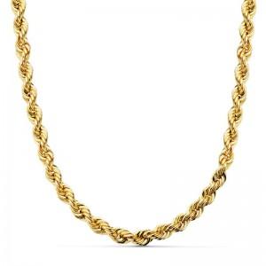 Cordón Oro 18kt salomónico 50cm x 5,5mm