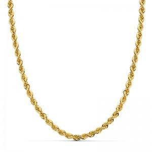 Cordón Oro 18kt salomónico 40cm x 4mm