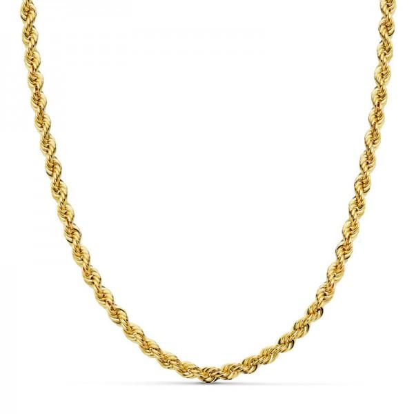 Cordón Oro 18kt salomónico 45cm x 4mm