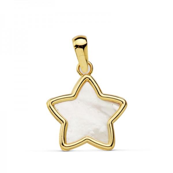Colgante Estrella de Nacar en Oro 18kt