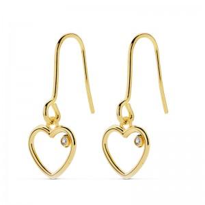 Pendientes Golden Hearts Oro 18K