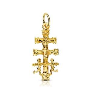 Cruz de Caravaca colgante en Oro 18kt 24 x 11mm