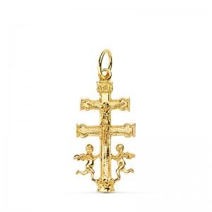 Cruz de Caravaca de Oro 18kt tamaño mediano