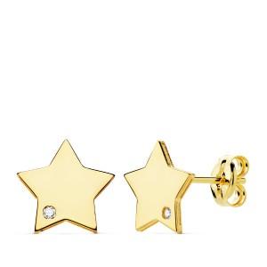 Pendientes de Estrellas Oro 18kt