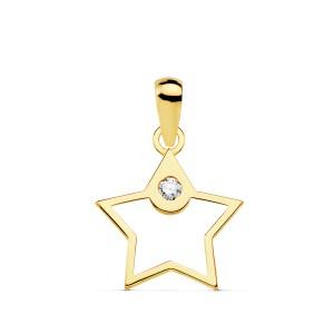 Colgante minimal de Estrella en Oro 18kt