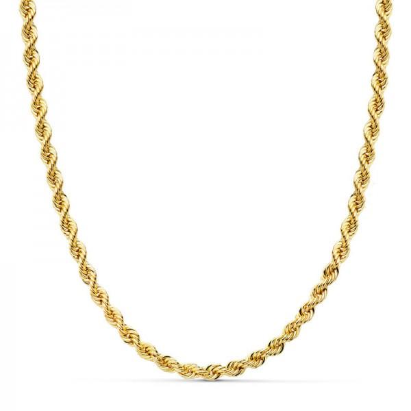 Cordón Oro 18kt salomónico 50cm x 4mm