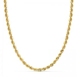 Cordón Oro 18kt salomónico 60cm x 4mm