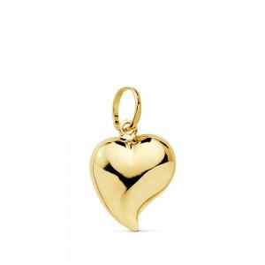 Colgante Corazón de Oro de 18Kt liso -13 x 12mm