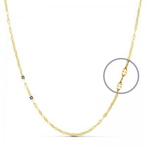 Cadena Oro 18kt maciza diamantada 45cm x 2mm