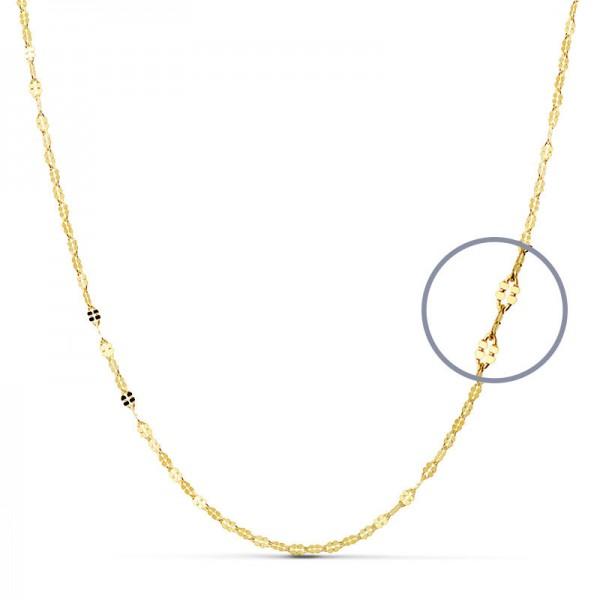 Cadena Oro 18kt maciza diamantada 50cm x 2mm