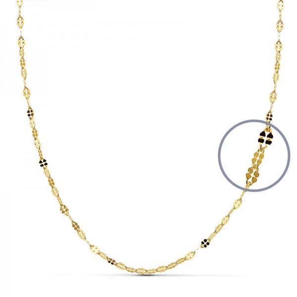 Cadena Oro 18kt diamantada 40cm x 1,5mm