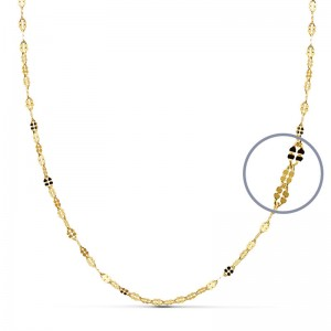 Cadena Oro 18kt diamantada 45cm x 1,5mm