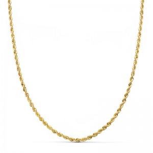 Cordón Oro 18kt salomónico 60cm x 2mm