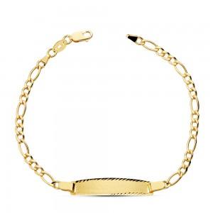 """Esclava """"Burdeos"""" en Oro 18kt con cadena Cartier y largo de 17cm"""
