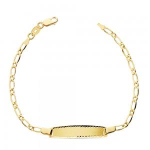 """Esclava """"Nantes"""" en Oro 18k y cadena modelo Cartier 17cm"""