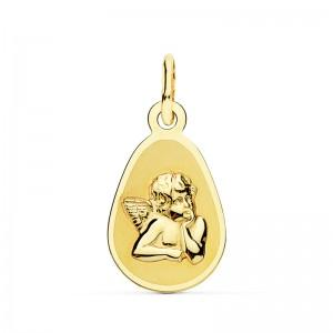 Medalla Ángel Burlón Oro 18kt 17 x 10mm