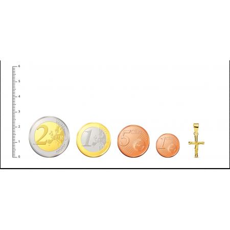 Cruz de Oro 18kt con Cristo de 15mm