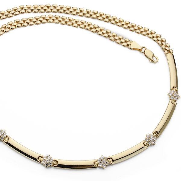 Collar Panter de Oro 18kt con circonitas