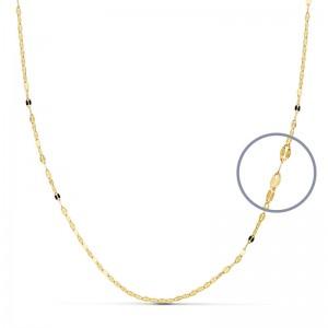Cadena Oro 18kt diamantada 45cm x 1mm