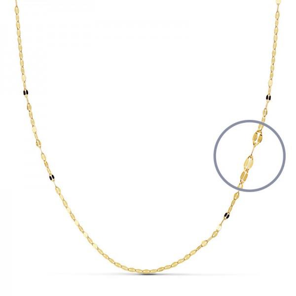 Cadena Oro 18kt diamantada 50cm x 1mm