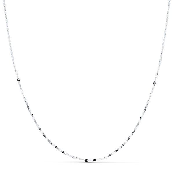 Cadena Oro Blanco 18kt diamantada 45cm x 1,2mm