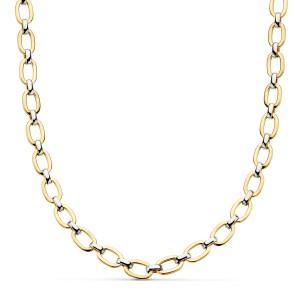 Collar de Oro 18kt bicolor de eslabones ovalados