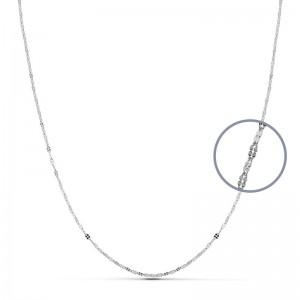 Cadena Oro Blanco 18kt 40cm x 1,1mm