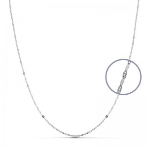 Cadena Oro Blanco 18kt 45cm x 1,1mm