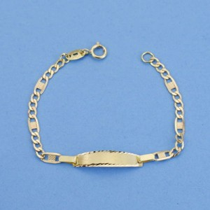 Esclava para nacimiento bebé con cadena Bilbao -11,5 cm
