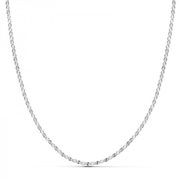 Cadena Oro Blanco 18kt diamantada 40cm x 1,5mm