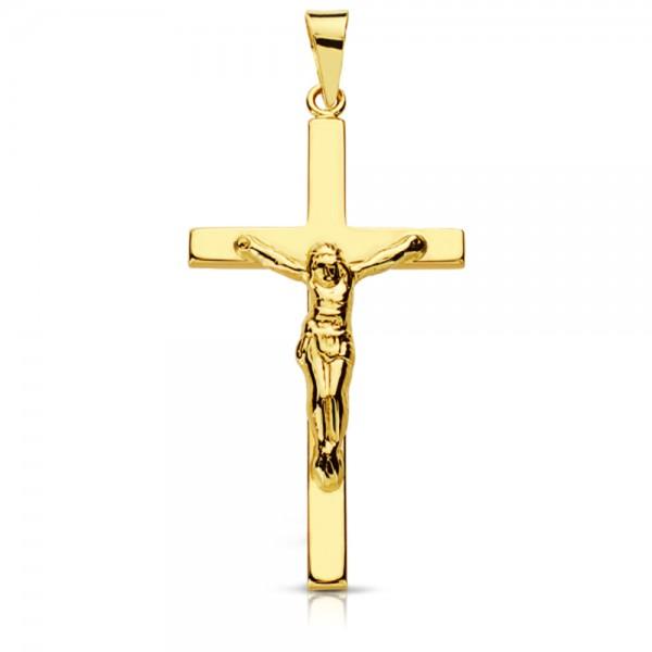 Cruz Clasica con Cristo de Oro 18kt