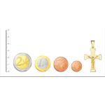 Cruz plana con Cristo de Oro 18kt