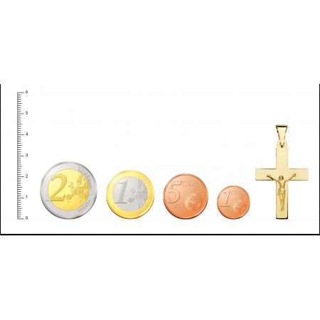 Cruz plana clasica con Cristo Oro 18kt