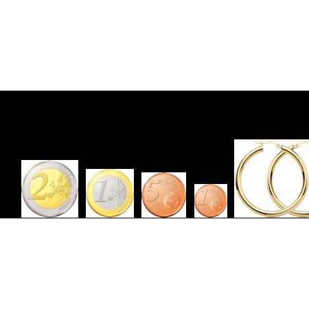 Aros de Oro 18kt lisos tipo tubo