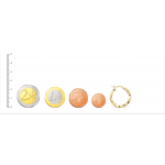 Aros de Oro 18kt reliados con dibujo de greca -20mm
