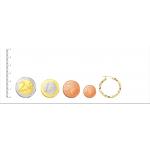 Aros de Oro 18kt reliados con dibujo de greca -25mm