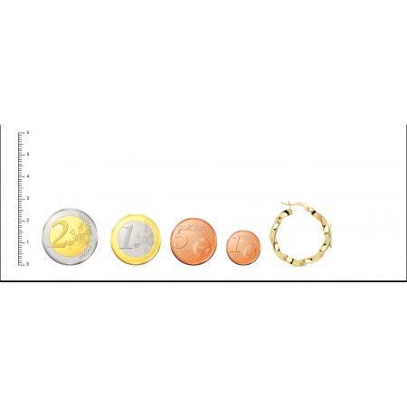 Aros de Oro 18kt reliados con dibujo de hilo